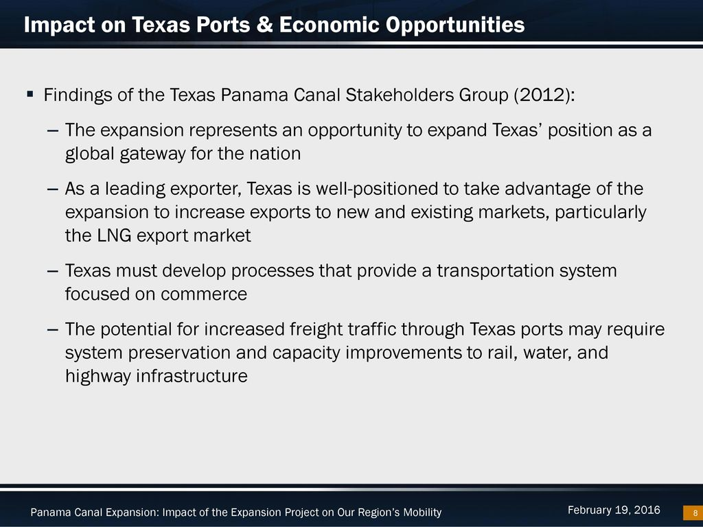 Panama Canal Expansion Ppt Download Process Flow Diagram Impact On Texas Ports Economic Opportunities