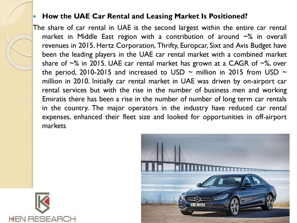 Uae Car Rental And Leasing Market Report 2020 Ken Research Ppt