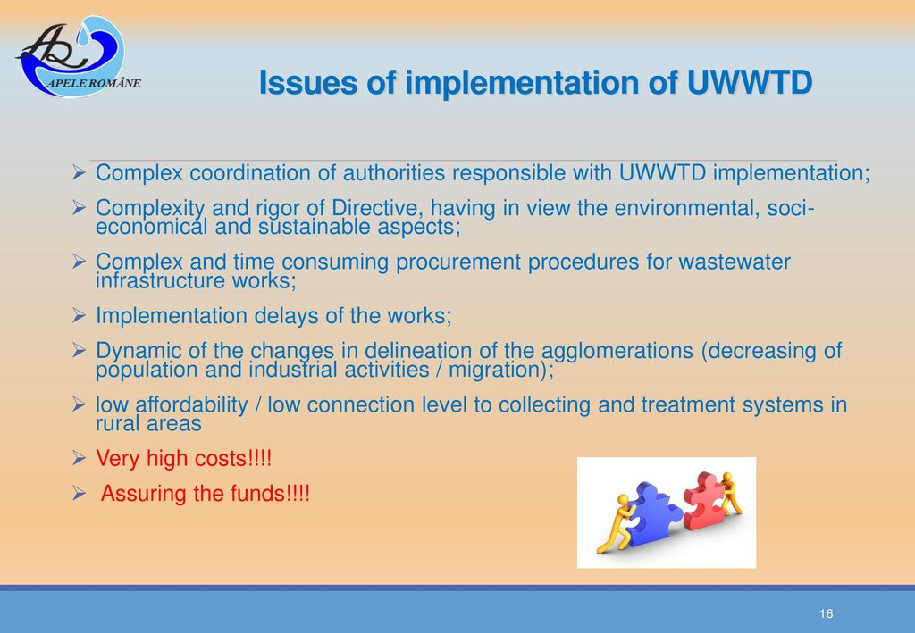 Issues of implementation of UWWTD