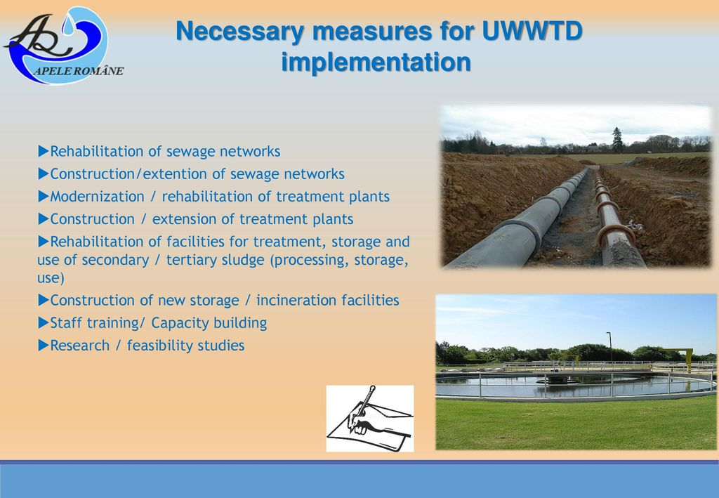 Necessary measures for UWWTD implementation