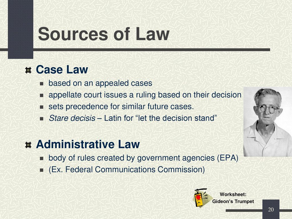 Objective 1.01 Ethics, Sources of Law & Legal Systems - ppt ...