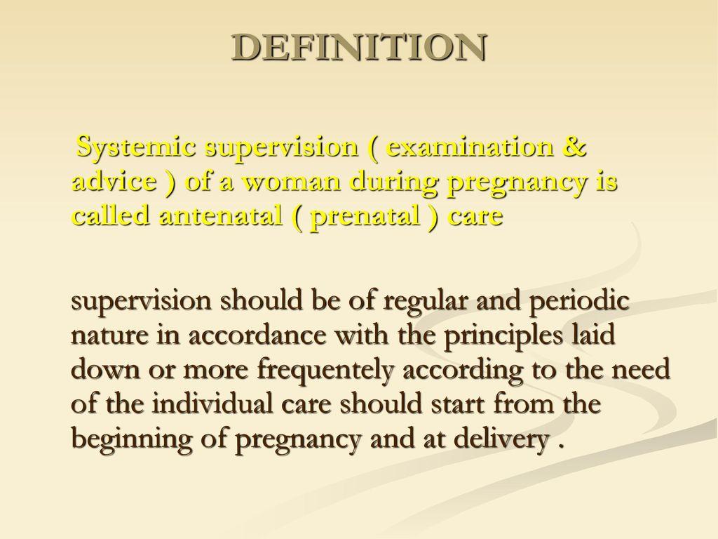Madison : Prenatal care in pregnancy definition
