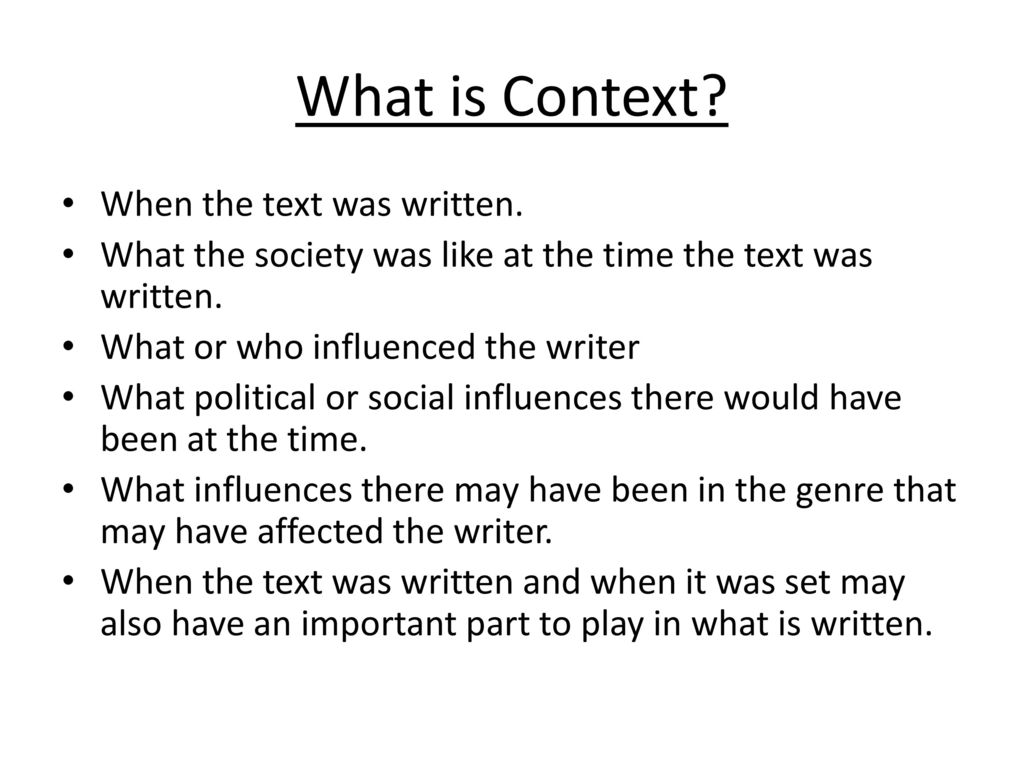 What is context? 37