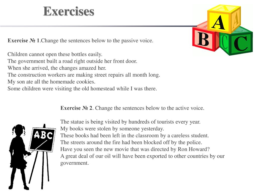 Active and Passive Voice - ppt download