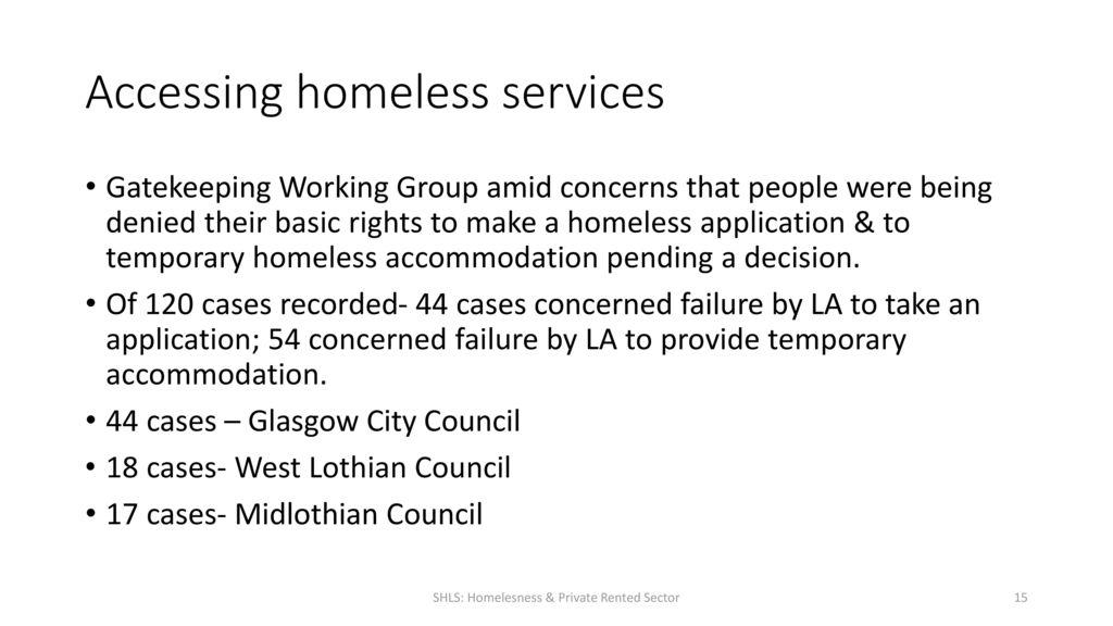 Shelter Scottish Housing Law Service- 17th November ppt download