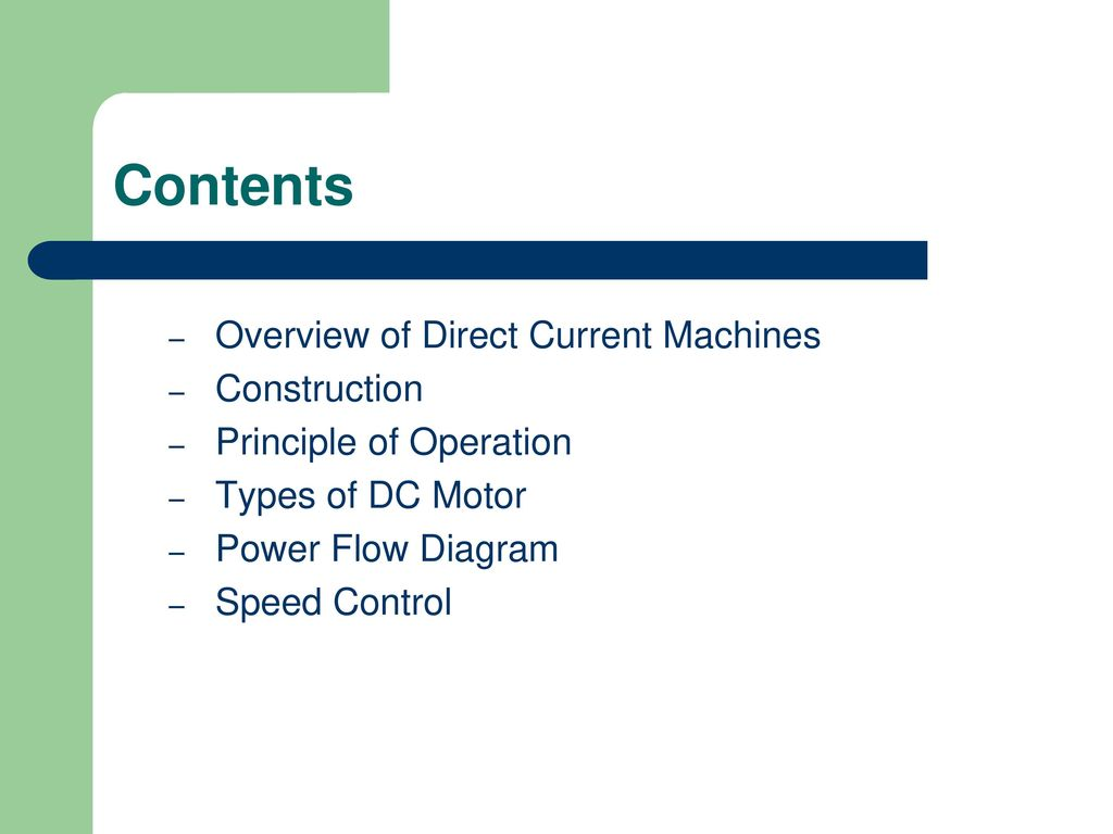 Dc Motor Electrical Machines Ppt Download D C Elementary Wiring Diagrams 2 Contents
