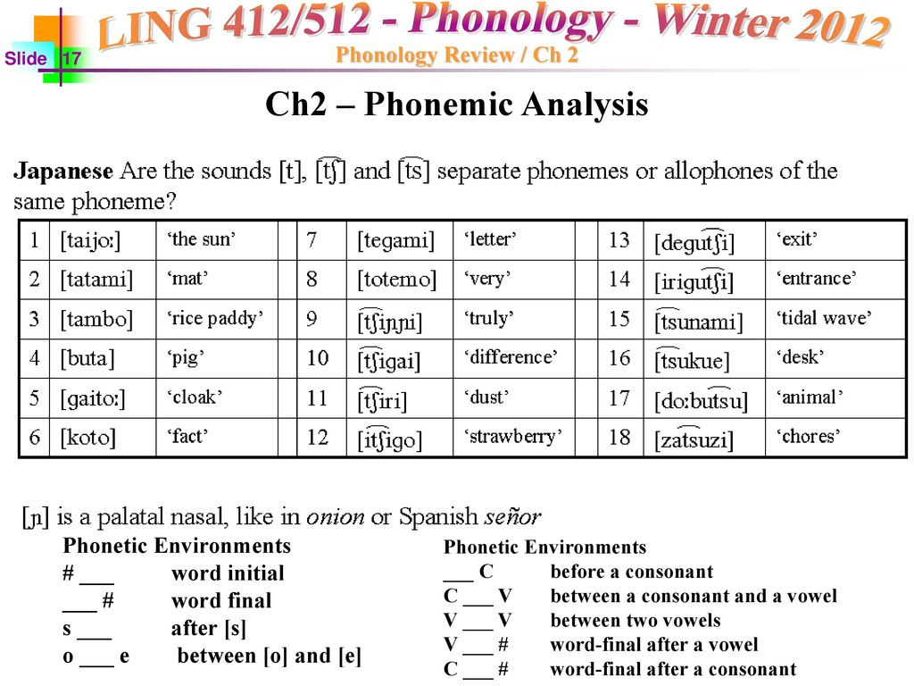 What is phonetic analysis