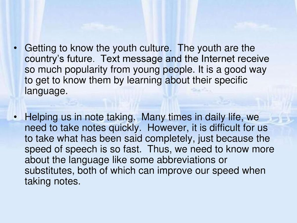 The Youth Are Country S Future