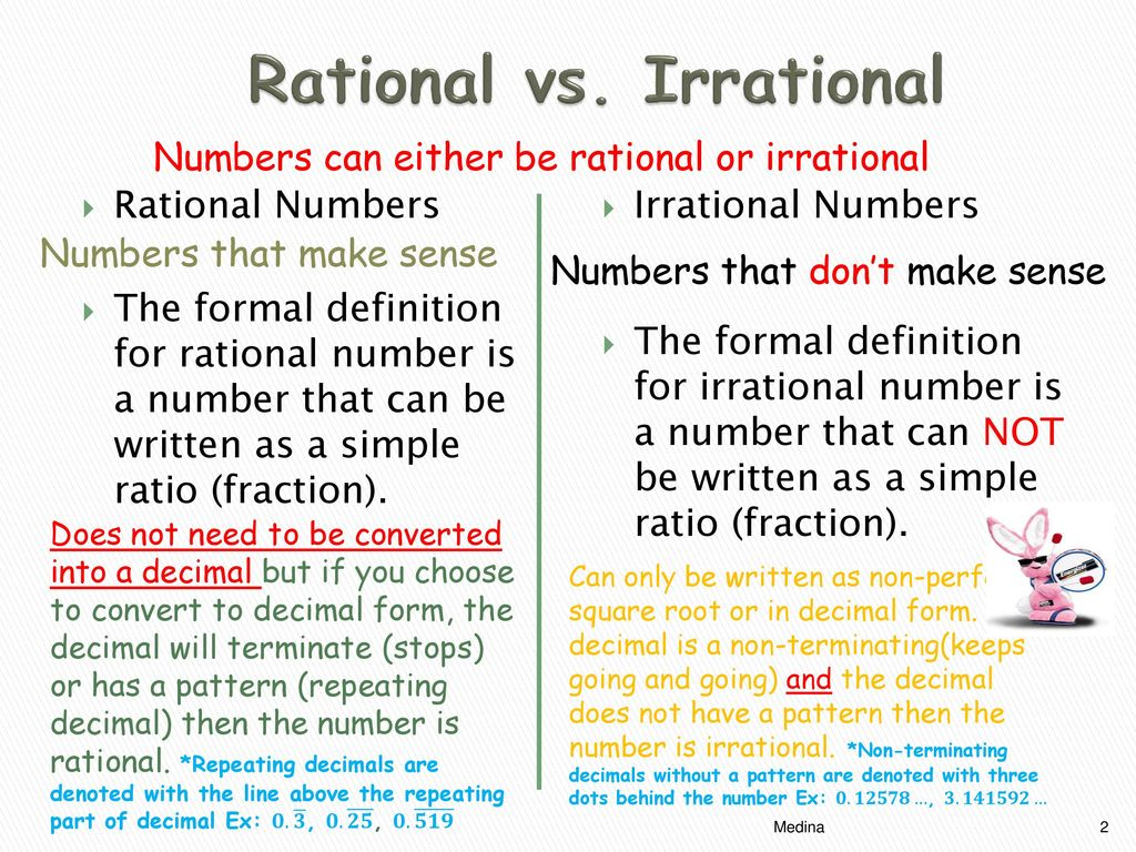 Rational Irrational Numbers Ppt Download