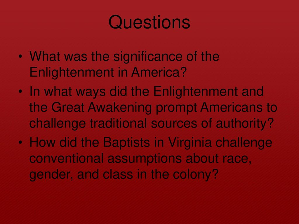 what is the significance of the enlightenment