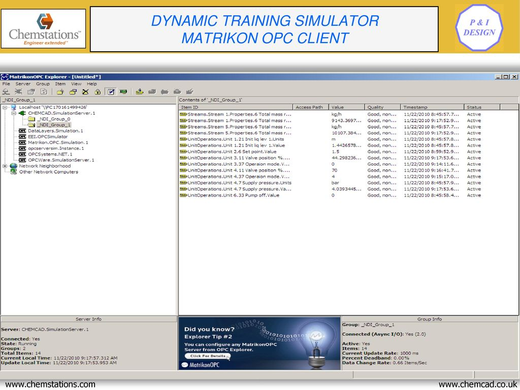 Presentation CHEMCAD Simulation Software Training Simulator - ppt