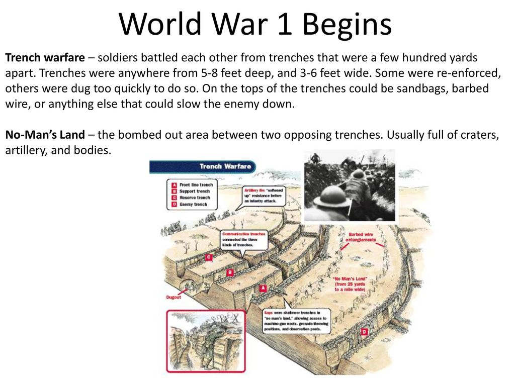World War 1 Begins There Were 4 Main Causes Of Ww1 Ppt Download Trenches Diagram I Found Out That