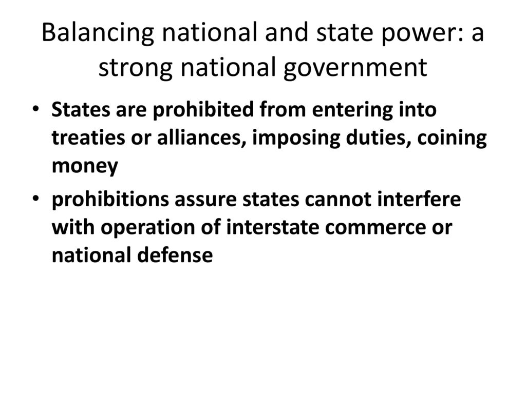 What is state power