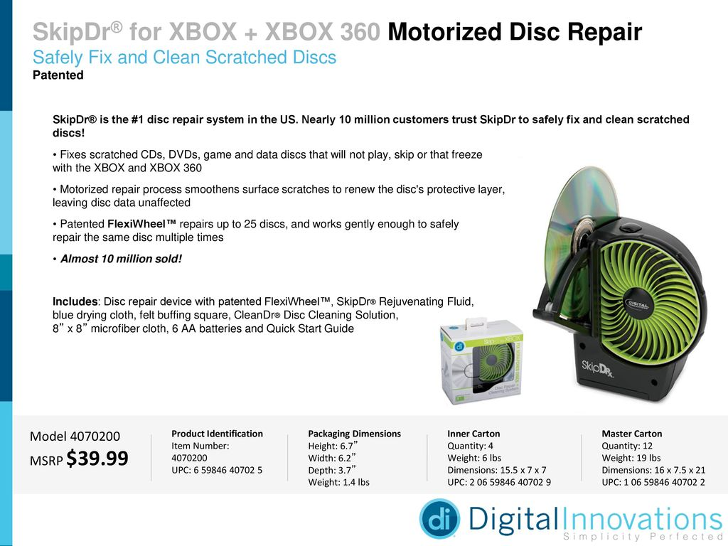 SkipDr® for XBOX + XBOX 360 Motorized Disc Repair - ppt download