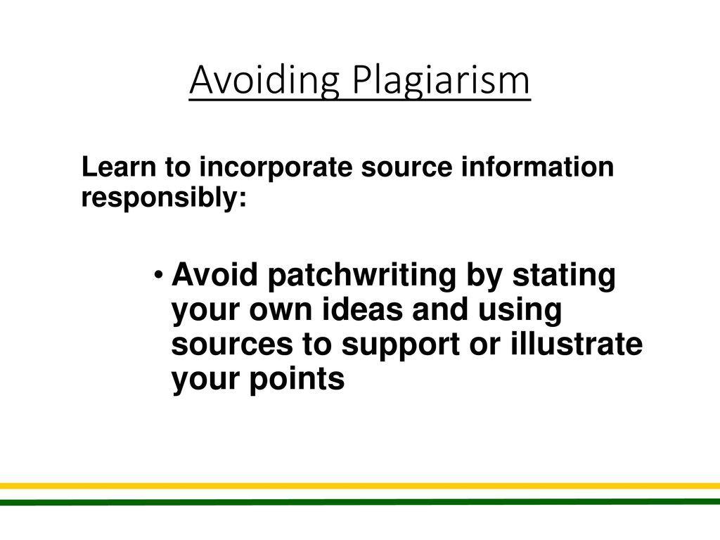 what is patchwriting and why should it be avoided