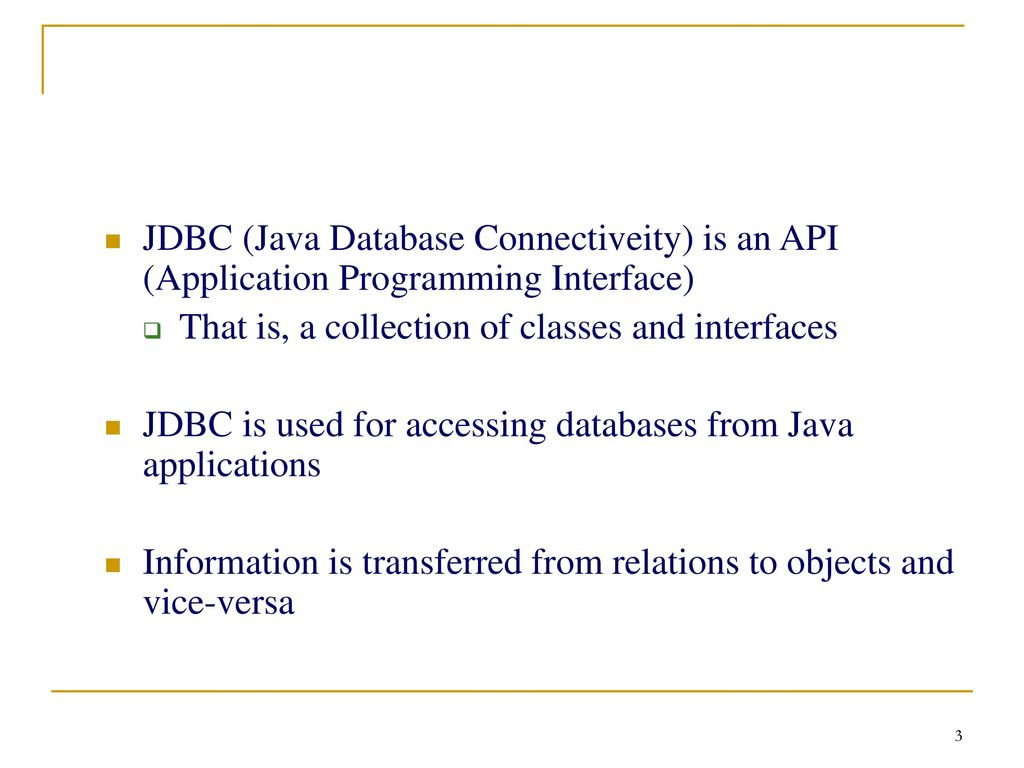 JDBC – Java Database Connectivity - ppt download