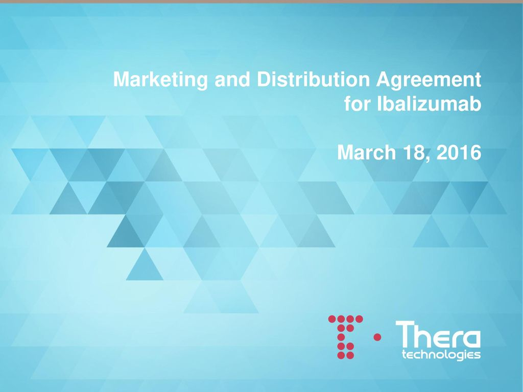 Marketing And Distribution Agreement Ppt Download
