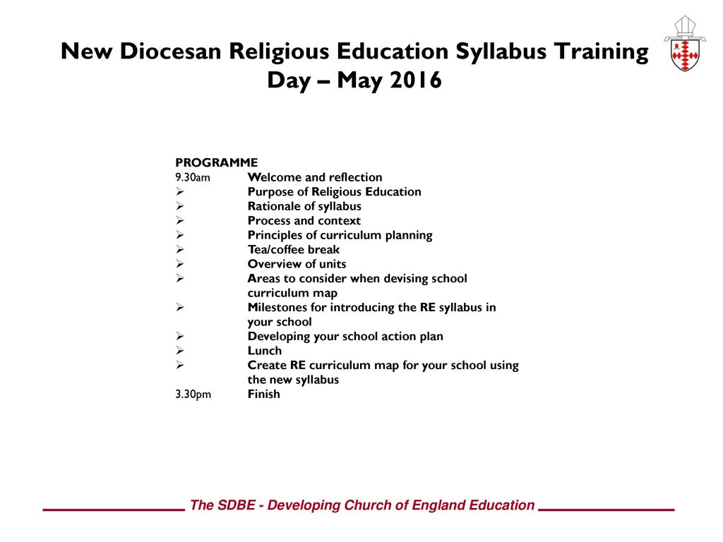 Welcome! Introducing the New Diocesan Syllabus - ppt download