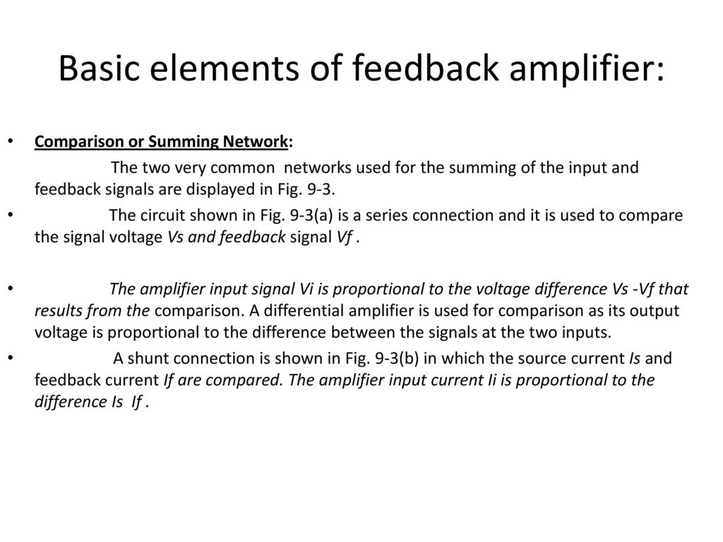 Feedback Amplifiers And Oscillators Ppt Download Circuit As Shown In Fig This Can Be A Voltage Signal 13 Basic