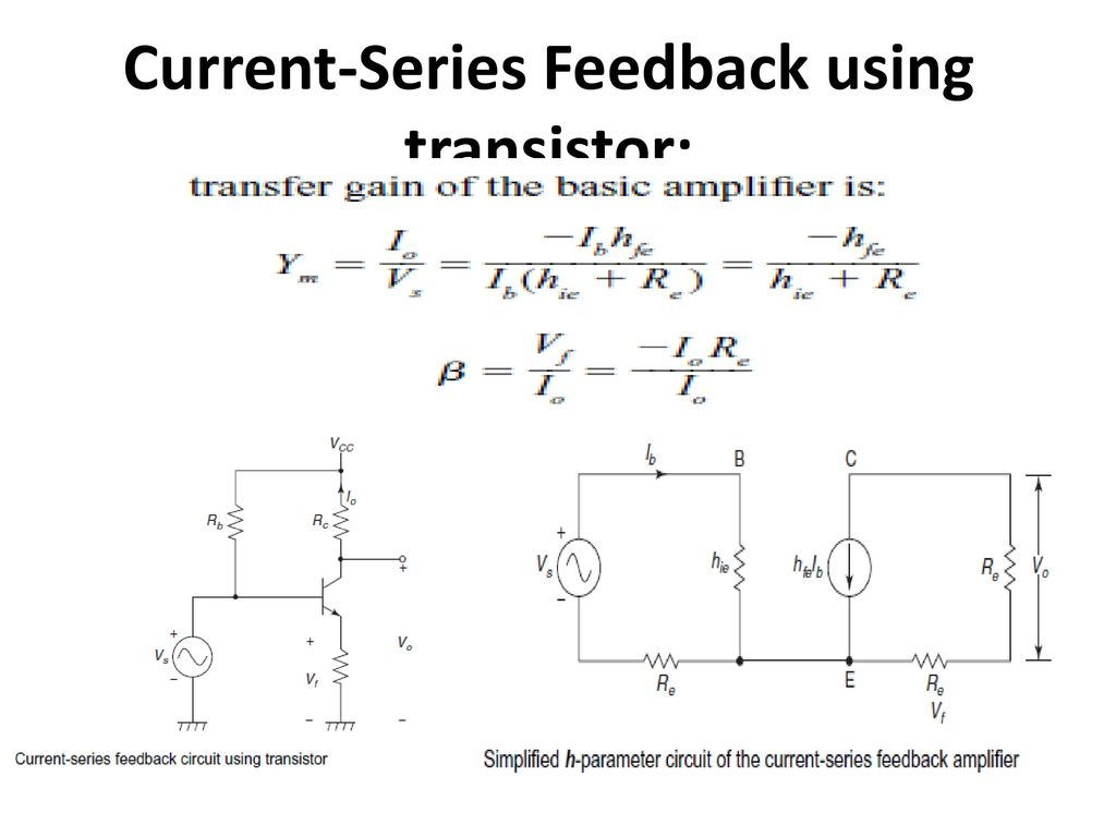 Feedback Amplifiers And Oscillators Ppt Download Phase Shift Oscillator Circuit Using Transistor Image 40 Current Series