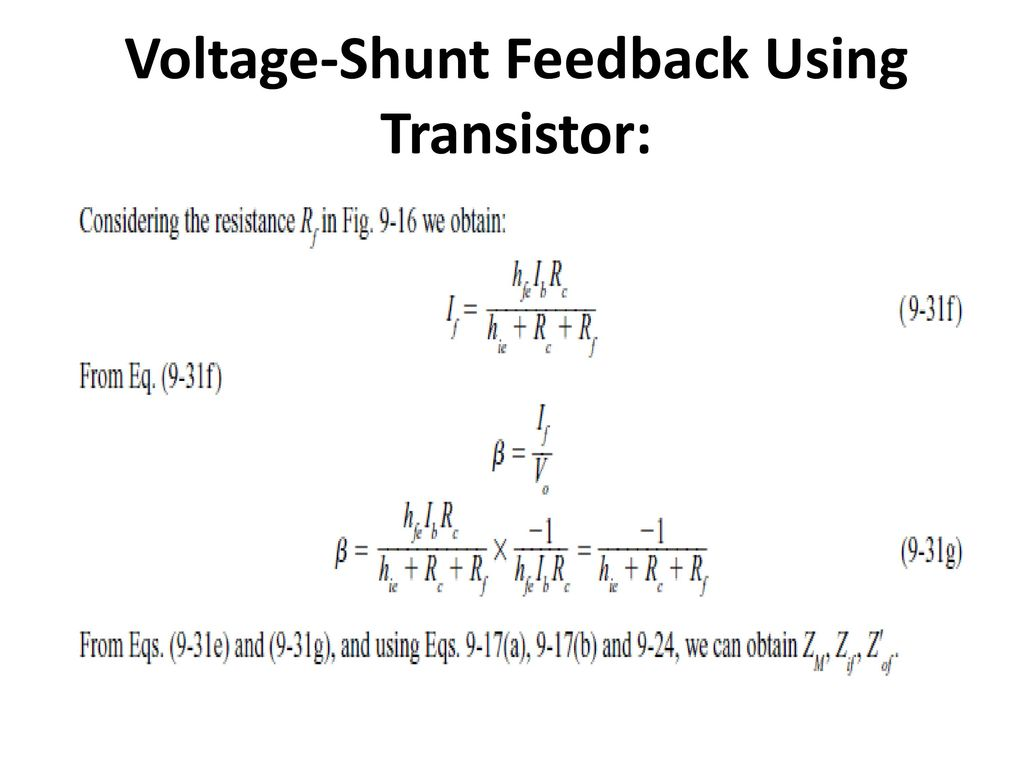 FEEDBACK AMPLIFIERS AND OSCILLATORS - ppt download