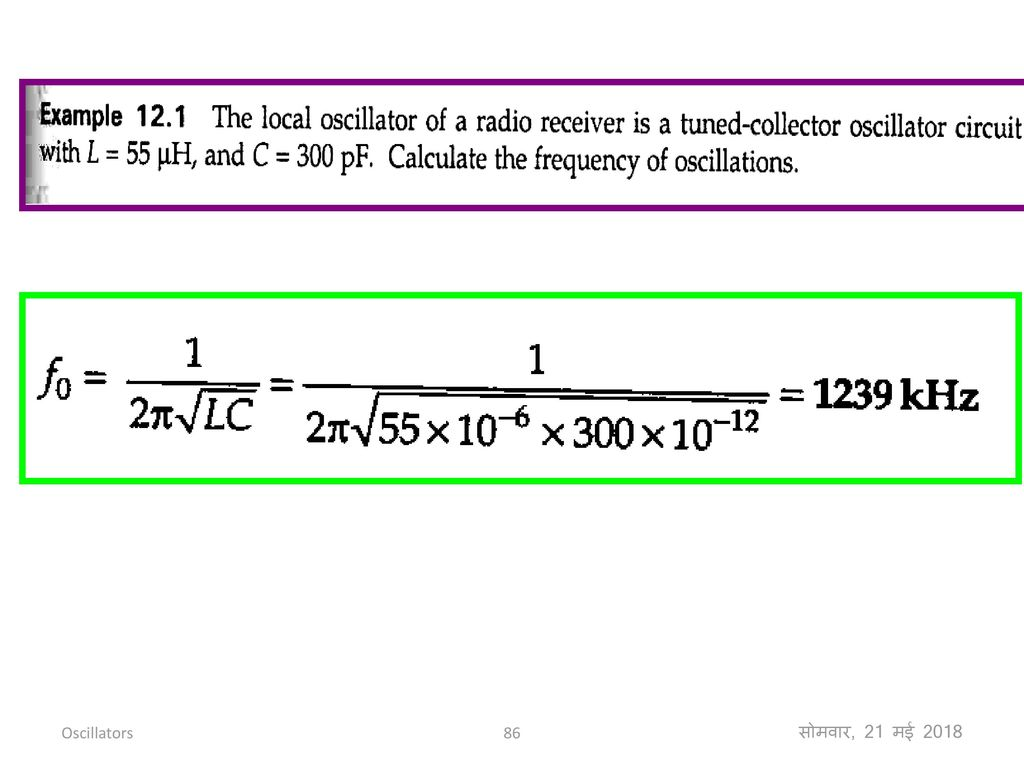 Feedback Amplifiers And Oscillators Ppt Download For The Circuit Also Determine Frequency Of Oscillations 86 21 2018