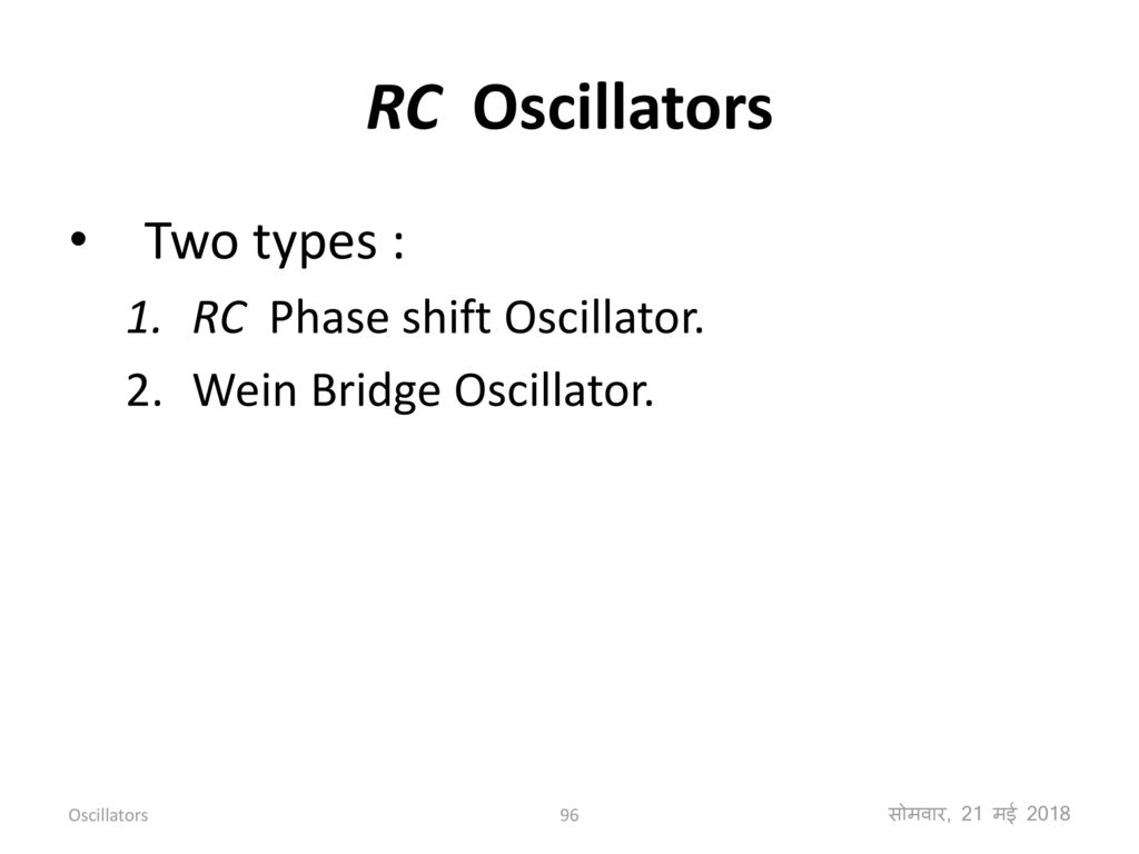 Feedback Amplifiers And Oscillators Ppt Download Tuned Collector Oscillator Rc Two Types Phase Shift