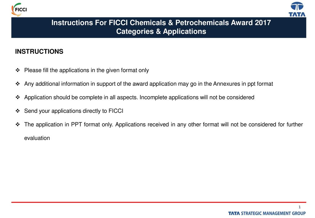 FICCI Chemicals & Petrochemicals Awards - ppt download