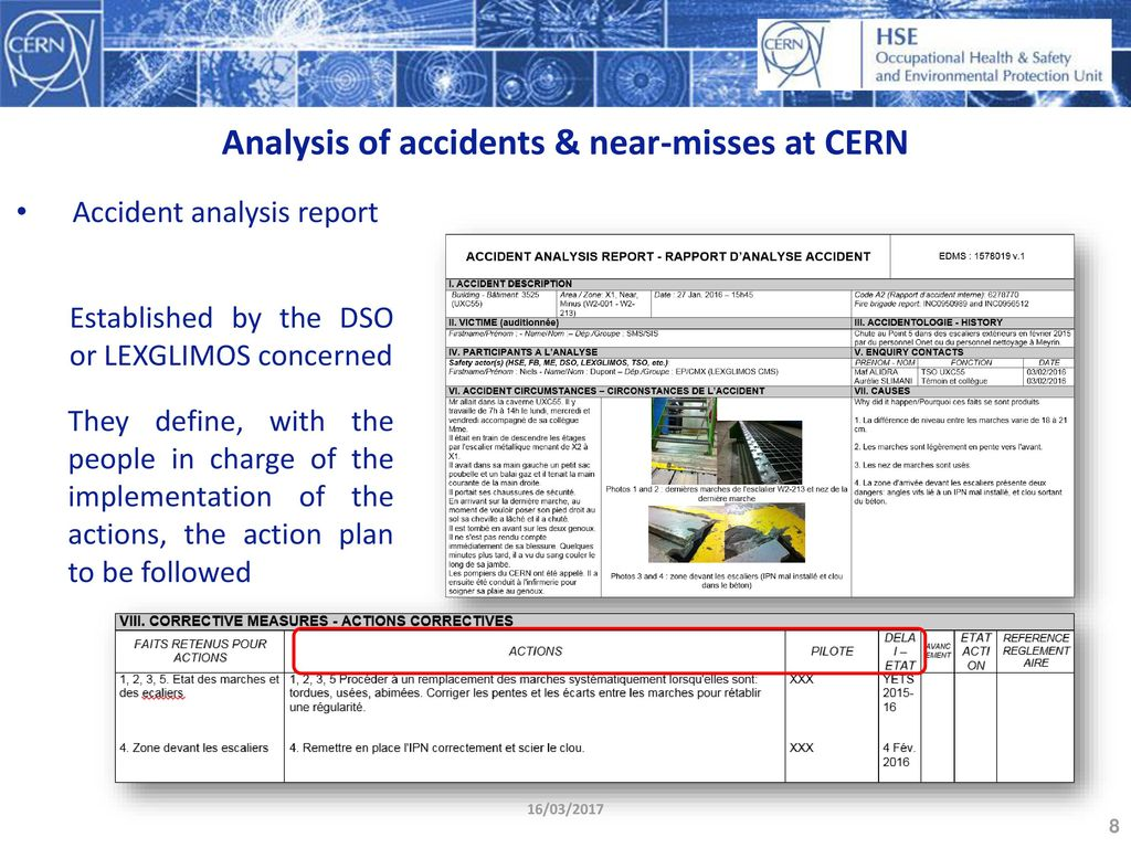 REPORTING & FOLLOW-UP OF ACCIDENTS & NEAR-MISSES - ppt download