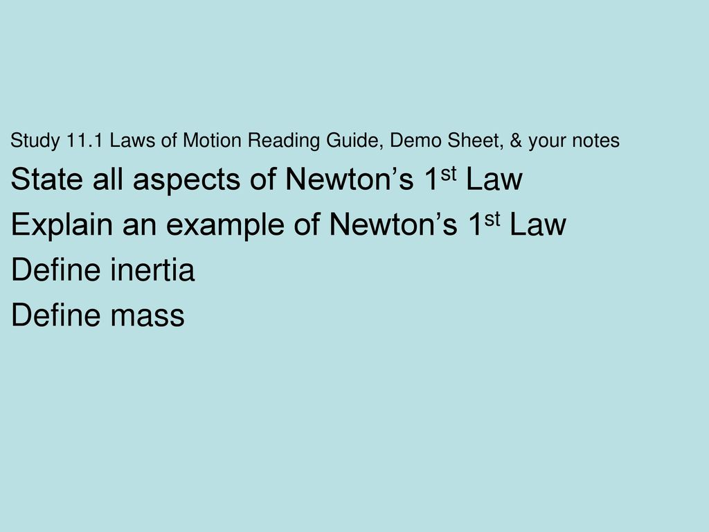 note taking guide newtons laws
