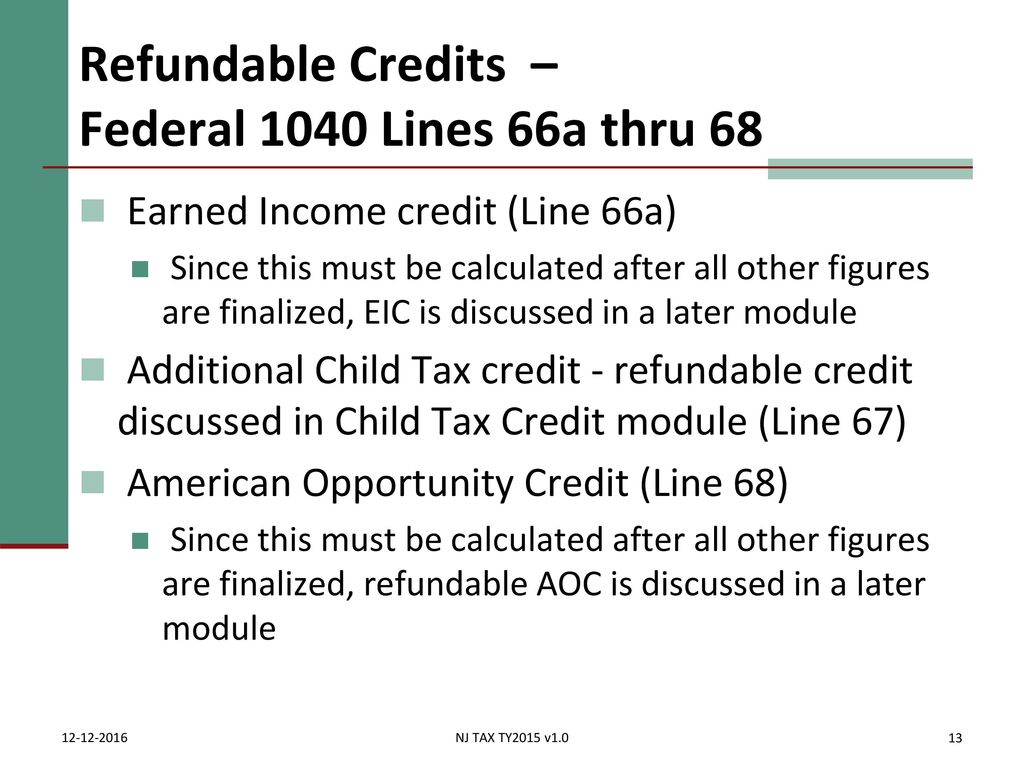Tax Payments Made & Credits - ppt download