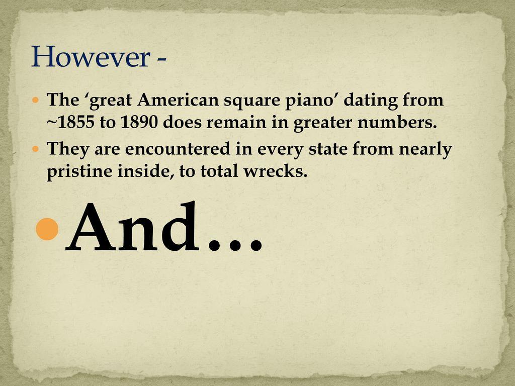 Piano dating