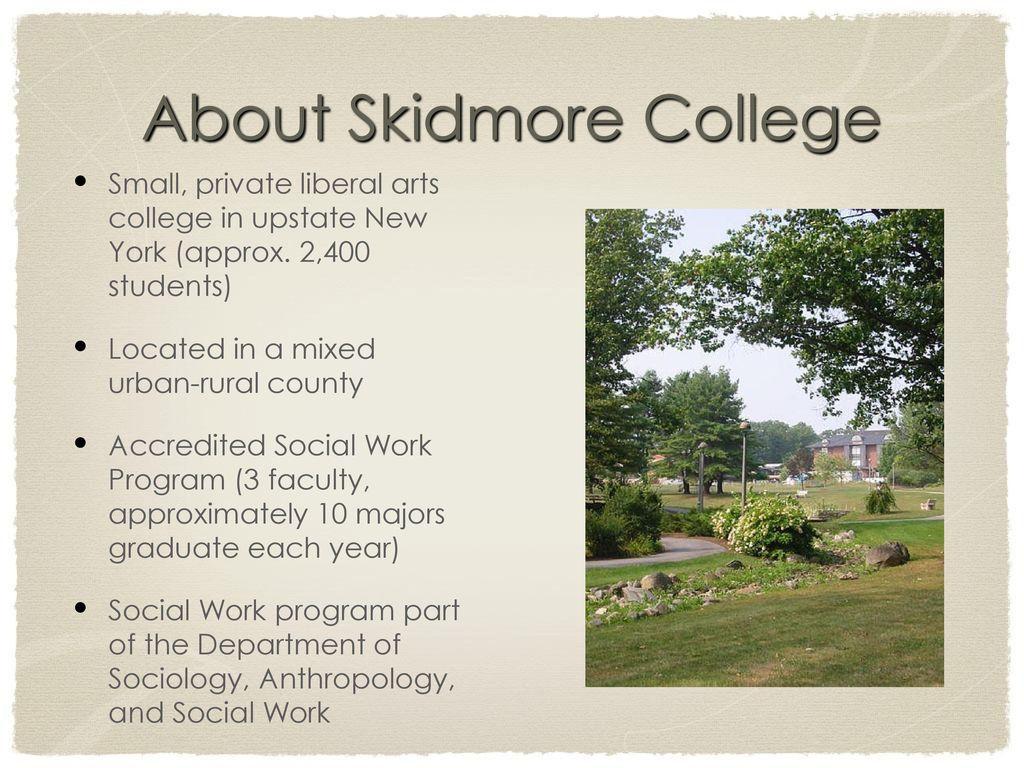 Skidmore College Presenters: Crystal Dea Moore, Program