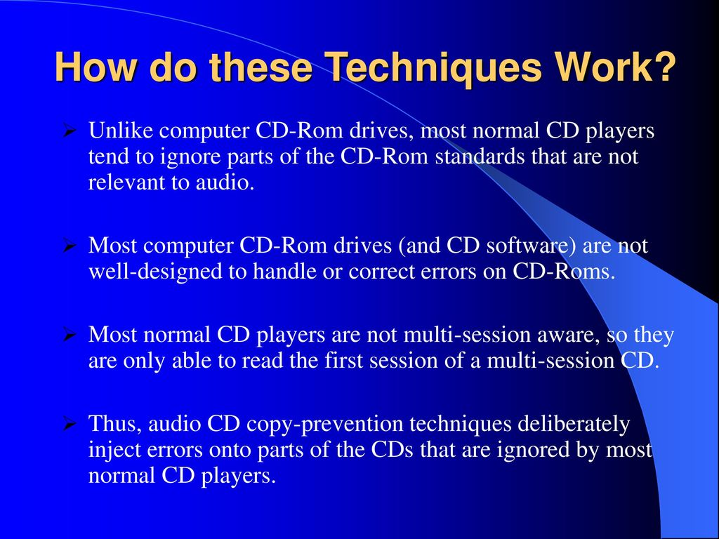 Evaluating New Copy Prevention Techniques For Audio Cds Ppt Download