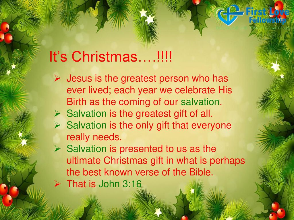 Unfolding Christmas Greatest Gift - ppt download