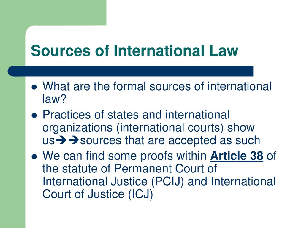 How to Find Sources of International Law recommendations