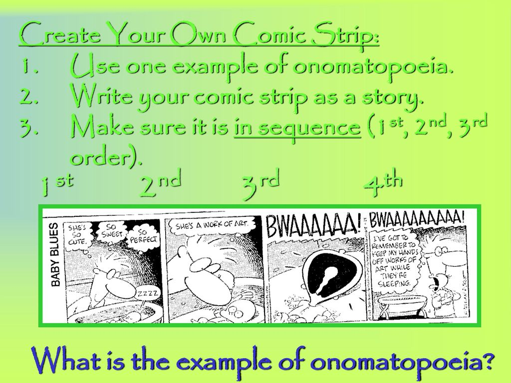 onomatopoeia rl 6.4 determine the meaning of words and phrases as