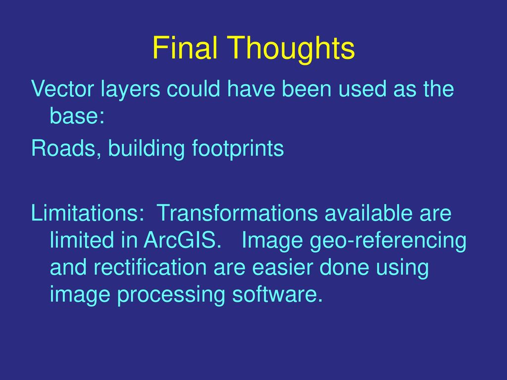 Image Geo-Referencing in ArcGIS - ppt download