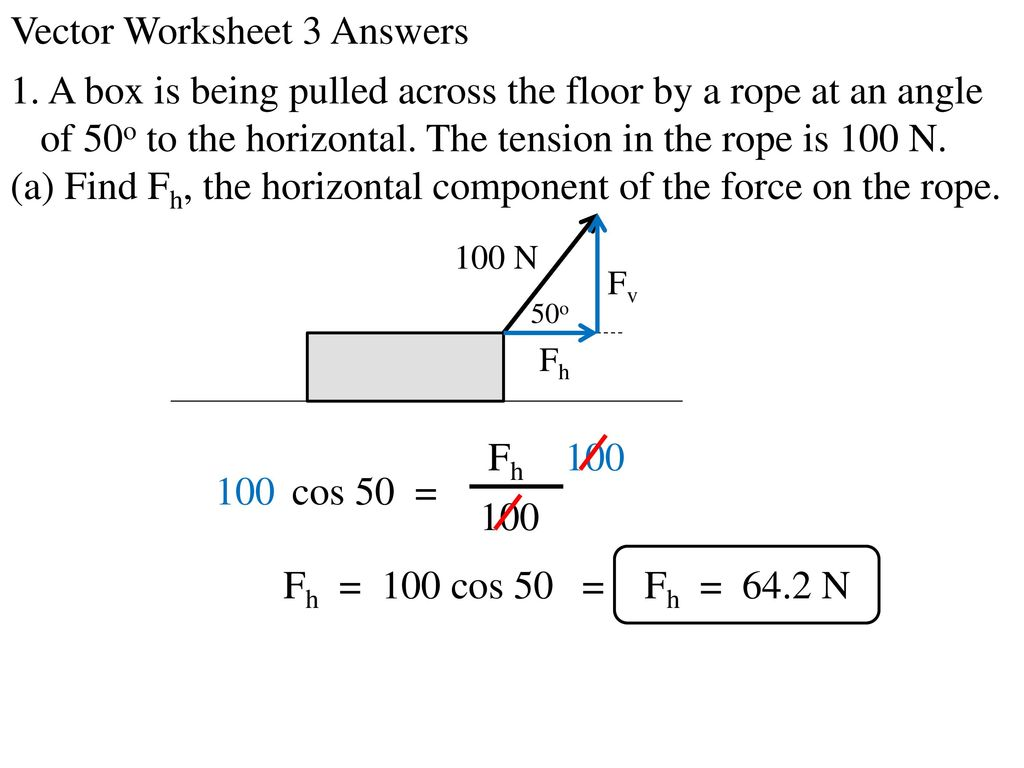 Vector Worksheet 3 Answers - ppt download