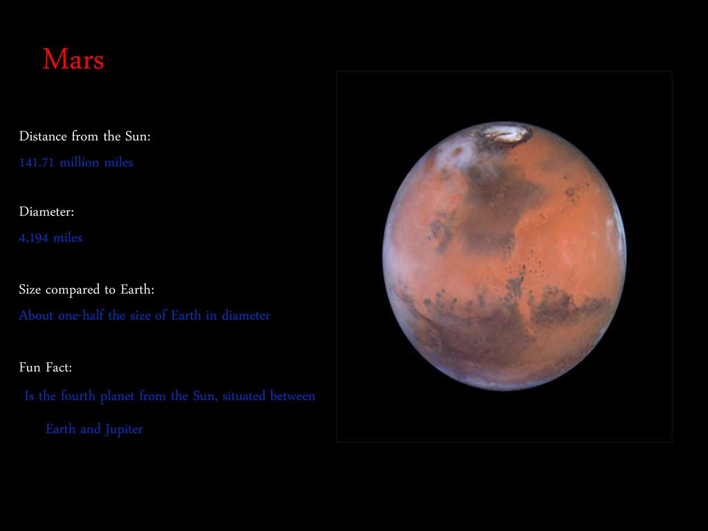 mars compared to earth size - HD1024×768