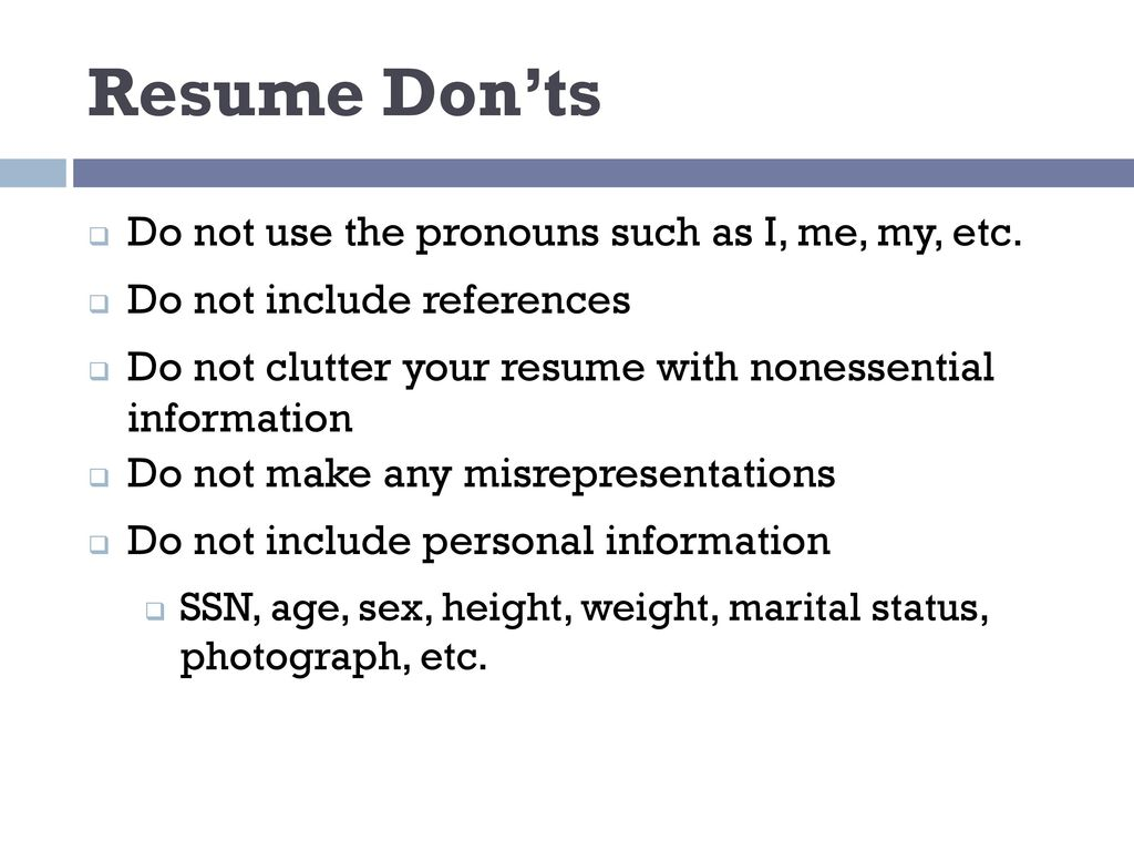 Resume Writing ppt download