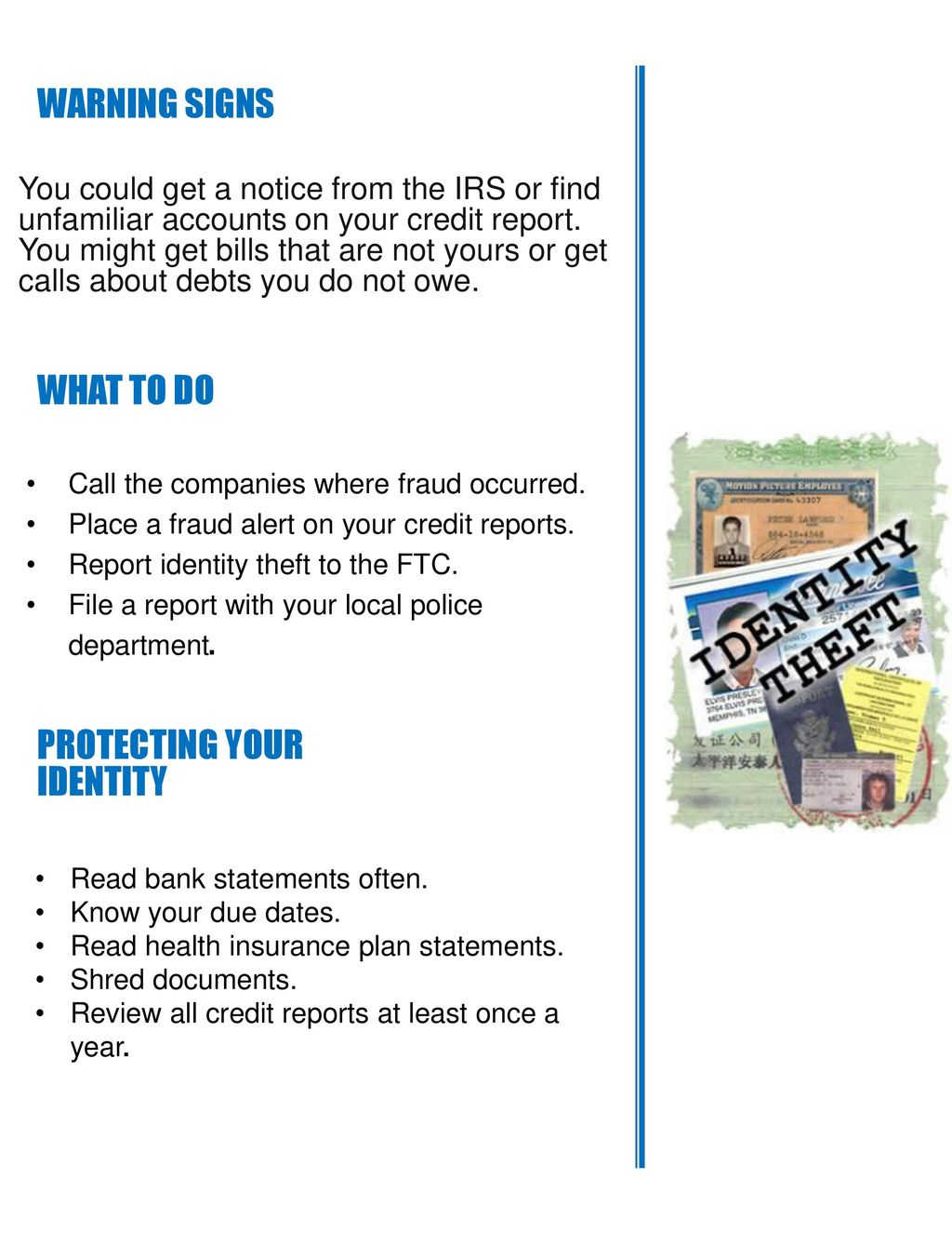 attention identity theft definition - ppt download