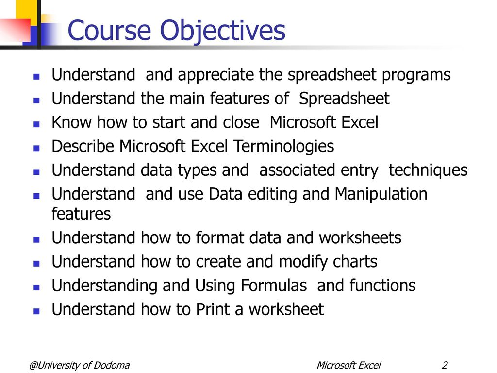 Microcomputer Applications Spreadsheet With Microsoft Excel Module 4