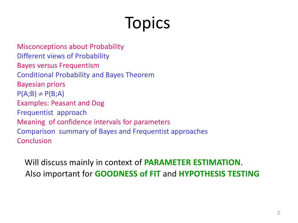 What is Probability? Bayes and Frequentism - ppt download
