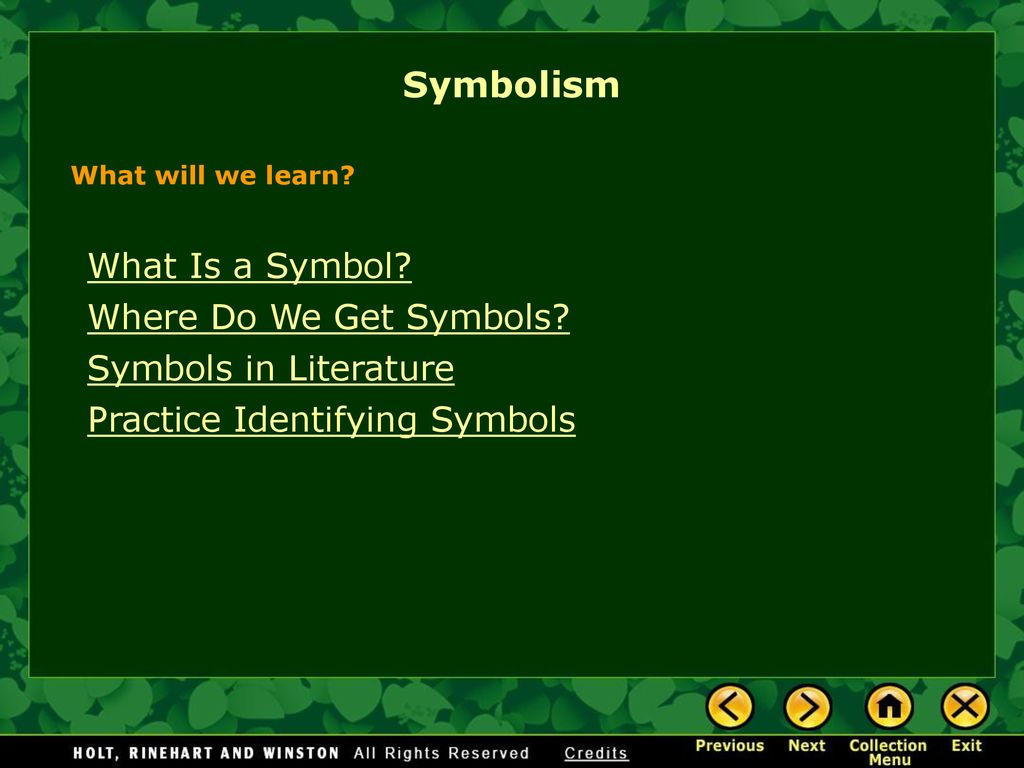 identifying symbols in literature