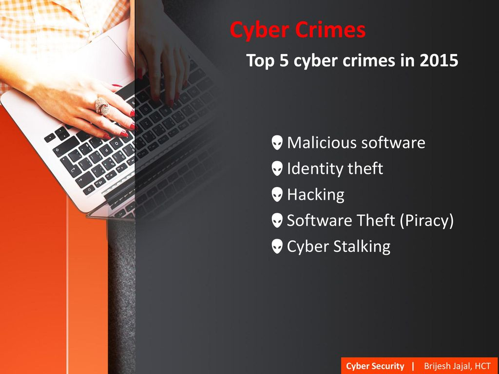 cyber security defending resources dr brijesh jajal hct, muscatcyber crimes top 5 cyber crimes in 2015 malicious software