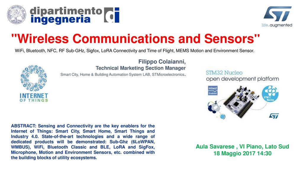 Wireless Communications and Sensors