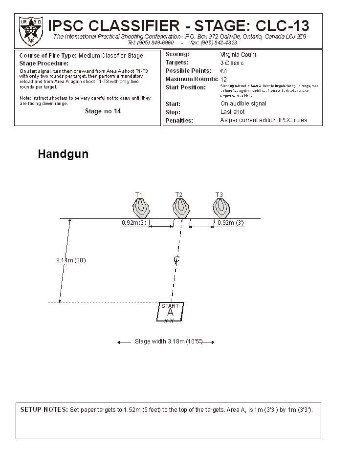 Stage no 14 Handgun