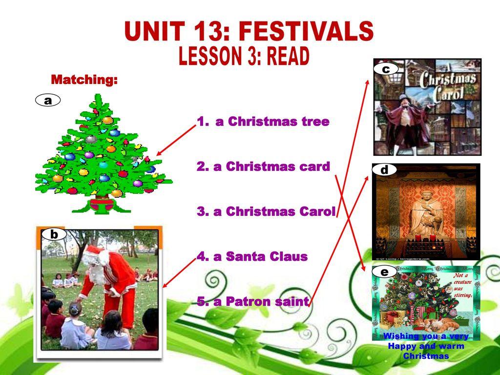 ENGLISH 8 UNIT 13: FESTIVALS PERIOD 80 LESSON 3: READ  - ppt