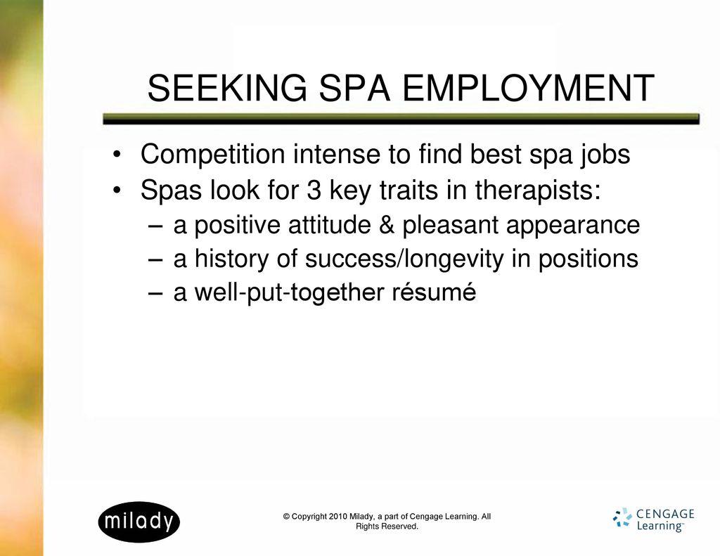 4 seeking spa employment